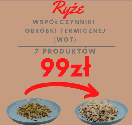 Współczynnik obróbki termicznej WOT ryże